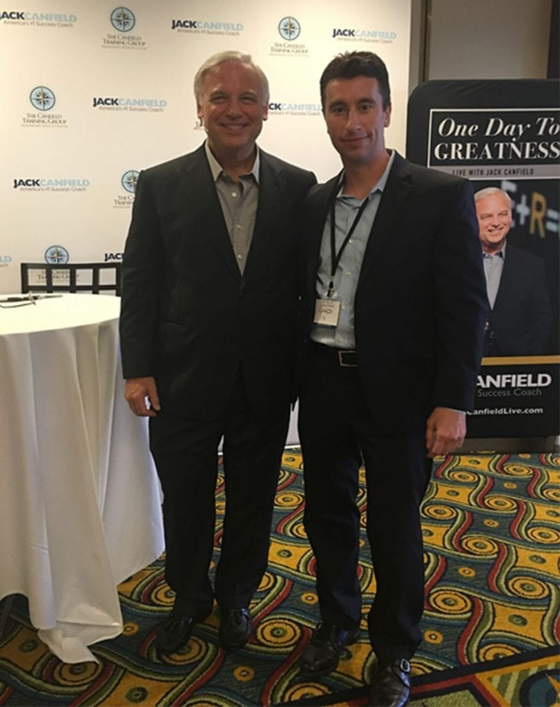 picture with Jack Canfield and Chad Napier