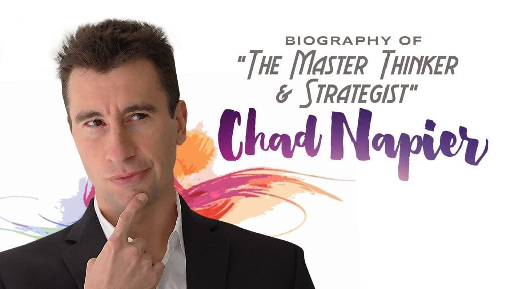 Banner of the master thinker and strategist chad napier