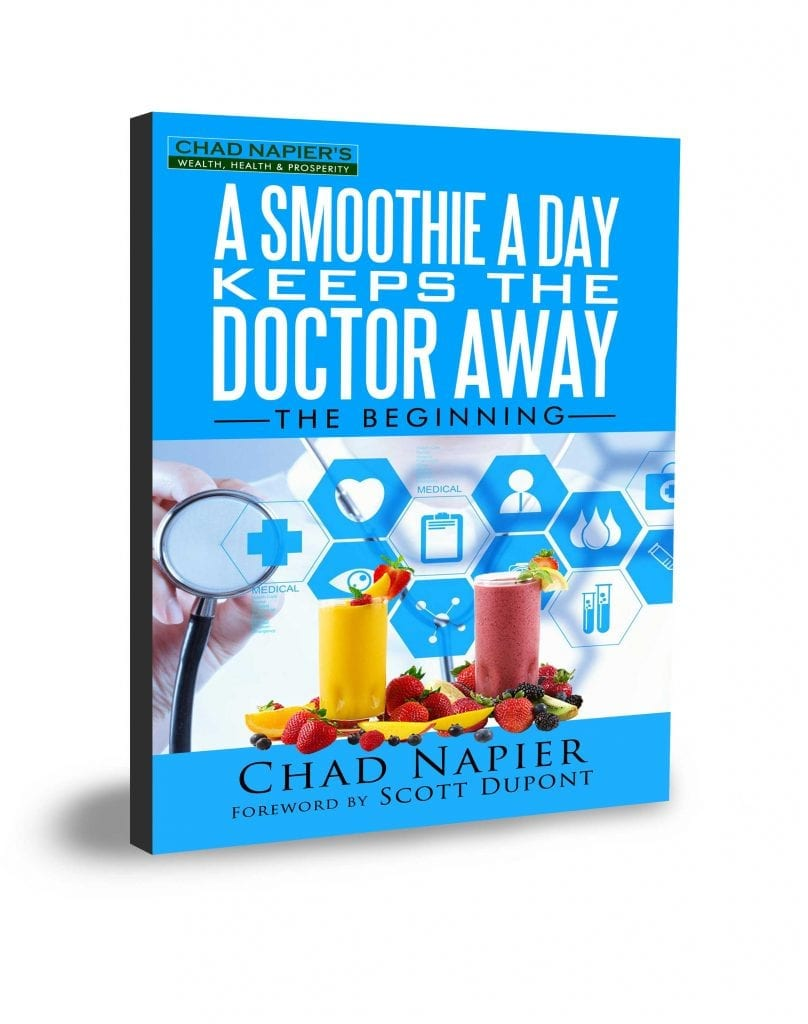 picture of 3d book cover of a smoothie a day keeps the doctor away