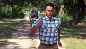 picture of forest Gump running