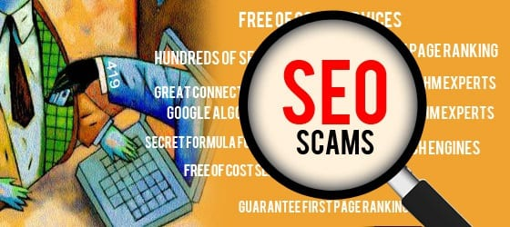 banner of seo scams